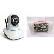 Zemini Wifi CCTV Camera and Mini Xtreme K5 Plus Bluetooth Speaker for LG OPTIMUS L4 DUAL(Wifi CCTV Camera with night vision |Mini Xtreme K5 + Bluetooth Speaker)