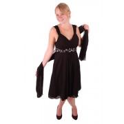 Korte jurk zwart met steentjes-44