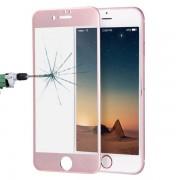 Böjt härdat fullskärmsskydd i glas till iPhone 8 / 7 - Rose Guld