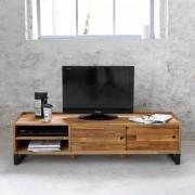 LA REDOUTE INTERIEURS TV-Möbel Hiba, Stahl und Eiche massiv, keilgezinkt