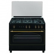 VITROKITCHEN Cocina rústica gas butano Vitrokitchen RU9060B Elegance 90x60