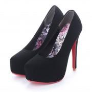アタガール attagirl 13cm ヒール ハイヒール レッドソール パンプス (ブラックヌバック) レディース