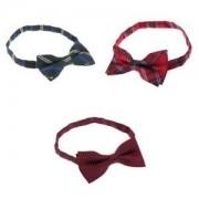 ELECTROPRIME 3pcs Men Classic Neckties Pre Tied Collar Bow Tie Tuxedo for Wedding Party