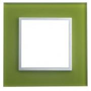 SOPIA Lichtschalterrahmen aus Glass (grün) 159349
