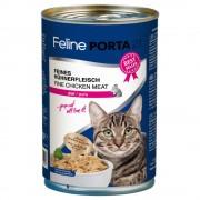 6х400г Feline Porta 21, консервирана храна за котки - натурално пилешко месо