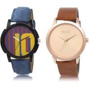 The Shopoholic Blue Maroon Rose Gold Combo Stylist Designer Combo Pack 2 Blue And Maroon And Rose Gold Dial Analog Watch For Boys Watchs For Men Stylish