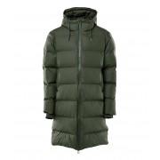 Rains Winterjassen Long Puffer Jacket Groen