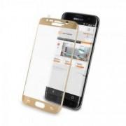 Folie protectie ecran sticla curbata Samsung Galaxy S7 EDGE pentru tot ecranul Full Cover curbata 3D Aurie