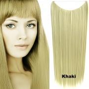 Flip in vlasy - 60 cm dlouhý pás vlasů - odstín Khaki - Světové Zboží