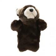 Chinatera Weight Easily Animate Adorable Bear Hand Puppet Soft Fur Doll Plush Toy EST Animal Story Telling Prop Play Glove Free Size Raccoon