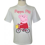 Camiseta Peppa Pig de Bicicleta - Coleção Peppa Pig