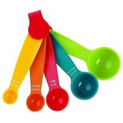 sell net retail 5 Pcs Measuring Spoon Set Multi Coloured Kit Baking Cooking Kitchen Utensil Tool