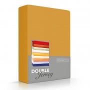 Romanette Luxe Dubbel Jersey Hoeslaken - Okergeel - Geel - Size: 220 x 200