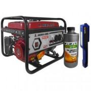 Generator curent MEDIA LINE MLG 2500/1 2.2KVA motor 6.5 CP monofazat combustibil benzina + 1x Lanterna LED si 1X ulei motor 4T AgroPro