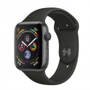 Apple Watch Series 4 GPS - 44mm Space Gray Aluminum Case with Black Sport Band - MU6D2