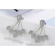 Solo Act Ltd £6.99 instead of £49 (from Styled By) for a pair of crystal cluster leaf summer earrings - save 86%
