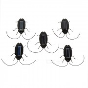 Ahorro de energia Solar Powered Cockroach Toy Set - Negro (5PCS)