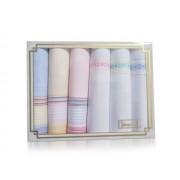 L36-10 Női textilzsebkendő 6db díszdobozban