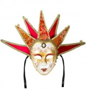 Masca venetiana cu clopotei si perla