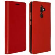 Avizar Funda de Cuero Roja para Nokia 7 Plus