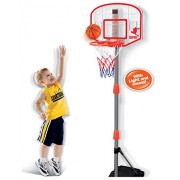 Junior Electronic Basketball Hoop Stand Indoor Game with Scoreboard (Lights and Sounds)