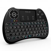 Reiie Wireless Qwerty Backlit Media TouchPad Keyboard Black