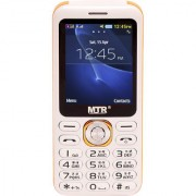 MTR DJ DUAL SIM MOBILE PHONE WITH 2.4 INCH DISPLAY WITH POWERFUL BOOM SPEAKER WHITE COLOR