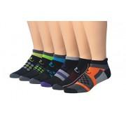 Ronnox Calcetines de running para hombre, 6 pares, corte bajo y rendimiento atlético, Colorful Sports #2, Medium/Large (mens shoe: 8 9 10 11)