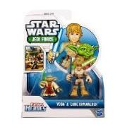 Hasbro Star Wars 2011 Playskool Jedi Force Mini Figure 2Pack Yoda Luke Skywalker