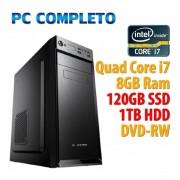 Intel PC COMPUTER DESKTOP INTEL QUAD CORE i7/8GB/SSD 120GB/1TB/DVDRW