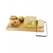 Platou lemn taiere branza si foi gras