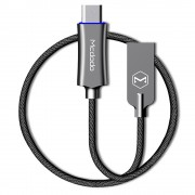 MCDODO Knight Series Auto Disconnect Quick Charge 3.0 Type-C Charging USB Cable (1m) - Black