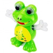 Flashing Dancing Frog with Sounds Glowing Hands/Eyes With Sweet Melodies Battery Operated Multi Color