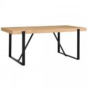 [en.casa]® Mesa de comedor para 6 personas [180x100cm] roble mesa de cocina