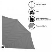 Сенник/Тента/Чадър за стенен монтаж [casa.pro]® , 160cm x 160cm , Сив