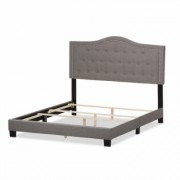 Baxton Studio Emerson Gray Fabric Upholstered Queen Bed