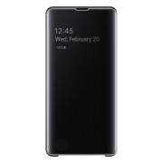Samsung G975 Galaxy S10+ Clear View Cover, gyári flip tok, fekete, EF-ZG975CB