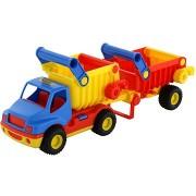 Polesie Auto ConsTruck Billenős teherautó pótkocsival