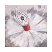 Tablou pictat manual Ballerina 40x40 cm