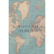 - Reisdagboek Notitieboek Wereldkaart Vintage   Sass & Belle