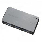 NF030 5 Gbps alta velocidad USB 3.0 HUB 4 puertos - gris claro + negro