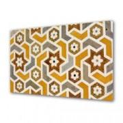 Tablou Canvas Premium Abstract Multicolor Flori Geometrice Decoratiuni Moderne pentru Casa 80 x 160 cm