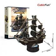 CubicFun T4035h Queen Anne's Revenge Vessel Models 3d Puzzle, 100 Pieces