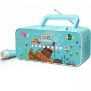 Радио Muse M-29 KB, Display LCD, CD-Player, Radio, Преносима, Тюркоаз, MSE00076