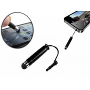 Mini Stylus Pen universeel | Met 3.5 mm plug | Zwart