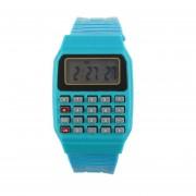 Cocodeal Unsex Silicona Reloj Calculadora Electrónica-Azul