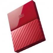 Външен диск HDD 3TB USB 3.0 MyPassport, Червен, WDBYFT0030BRD