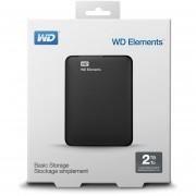 Disco Externo Western Digital WD Elements 2 TB-Negro