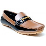 Oora Dashing Tan With Black Combination Loafers For Men(Tan)