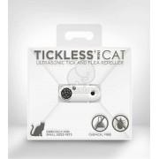 Aparat repelent cu ultrasunet împotriva căpușelor și puricilor TickLess Mini Cat alb